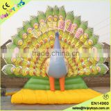 Hot Sale Peacock Model Inflatable Menorah
