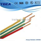 Colors PVC Insulated single core electrical wires Suitable for Building Wiring of Appliances