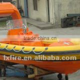 SOLAS Fast speed rigid hull inflatable fender recsue boat For Sale