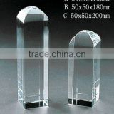 Grade A crystal blank block with engraved for crystal trophy and award (R-0395)