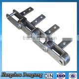 Carbon steel Conveyor chain with Extend attachment double hole