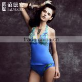 Balneaire fashion blue Color Woman Sexy Tankini Swimsuits
