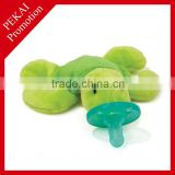 Plush sea turtle toy with big nipple pacifiers