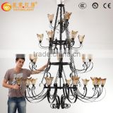 Engineering large chandelier, villa duplex Continental Iron glass chandeliers