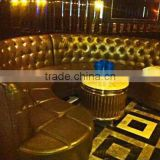 ktv/bar/nightclub furniture luxury tufted semi circle leather sofa