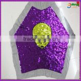 2016 Custom-made sequin embroidery fabric with special pattern for childen garment fabrics