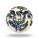Ceramic Ethnic Blue Design Knob