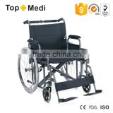 Rehabilitation Therapy Suppliy TOPMEDI high quality health equipment hot sales manual foldable bariatric wheelchair for disabled