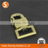 Manufacturer wholesale price metal gold snap hook,spring clip snap dog hook for bag luggage backpack