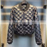 Black Padded Wholesale blank baseball jacket bomber jacket