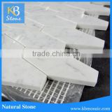 hot selling marble stone art carrara white mosaic