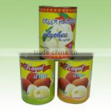 2014 New Crop China Tin lychee lichee Canned Fruit in Heavy Syrup