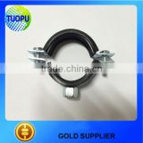 gold supplier wholesale 4-25mm rubber hose clamp,galvanized metal hose clamp with two screws