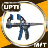 Taiwan Made High Quality DIY Tool One-hand Bar Clamp & Spreader with TPR Grip Handle
