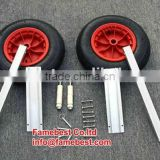 Aluminium folding launching wheels for inflatable boat