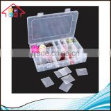 Chinese Manufacturer Houseware PP Clear Plastic Storage Container Medical Jewellery Cosmetic Box with Dividers