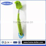 Duplex strong high quality decontamination toilet cleaning brush/removable double-sided curved toilet brush