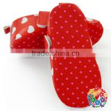 Plain Red Baby Shoes With Heart Soft Prewalker Shoes Fancy Baby Girls Shoes Wholesale