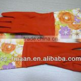 good quality bicolor long household latex/rubber gloves