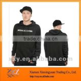 Black Cotton Fleece Hoodies Top Quality for Men to Wear