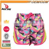 Custom Printing 100% Polyester Kids Sports Beach Shorts for Girls