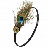 Hot Costume Head Piece Hair Band Peacock Feather Headband Hair Accessories