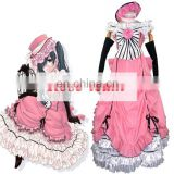 Fantasia Anime Lolita-Custom Made Black Butler Kuroshitsuji Ciel Phantomhive Pink Lolita Dress Anime Cosplay Costume C0282