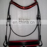 Horse bridle crystal leather bridle