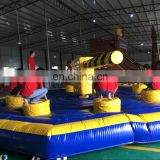 2016 Customized challenge inflatable meltdown game with rotative machine/Inflatable rotation games for adult/inflatable game