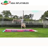 Pink inflatable tumble track / inflatable air track / gymnastics water floating mats
