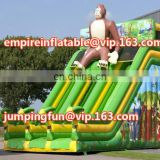 Commercial inflatable slide of medium size with gorilla ID-SLM014