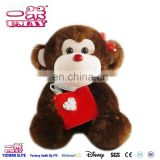 New plush stuffed monkey with bag plush 0511 plush toy factory