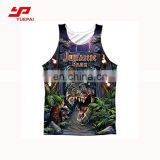 Custom Tank Top shirt men compression fitness quick dry clothes sublimation tank top gym