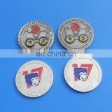 custom engraved logo cute cartoon character souvenir coin with soft enamel