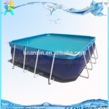Portable Above ground rectangular steel metal frame swimming pool