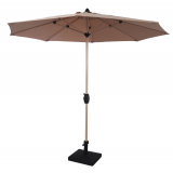 270-8 Alu Market Umbrella with wooden coated