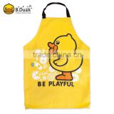 Hot Sale Cute B.duck Brand Kids/Child Apron Disposable Apron For Kids With Duck Printing