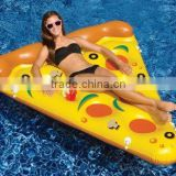 Fun giant inflatable pizza float relaxing swim pool beach lounger air mat for sale