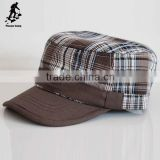 Hot popular plaid hats Autumn and winter baseball cap