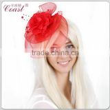 decorative poinsettia big flower hair net clip                                                                         Quality Choice