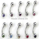 Sexy Zircon Rhinestone Diamond 316l Stainless Steel Body Piercing Jewelry Navel Belly Piercing