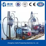 hot sale HF-20 portable hydraulic drilling rig for geotechnical exploration drilling depth 20m diesel engine