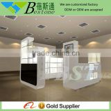 modern high quality wood cell phone accessories kiosk showcase furniture design for mobile shop display