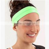 2016 wholesale cheap fashion plain elastic cotton sport headband for women softball Yoga girls hair band