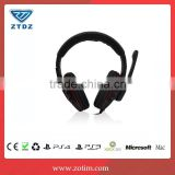 High quality fatory price video game accessory 4in 1wired headset with MIC for PS4/XBOX360/PS3/PC