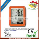 DCY-101 new outdoor touch-screen wireless cycle computer/bike computer of bike accesories with speed/distance/odometer
