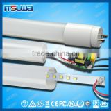 Plastic Lamp Body Material and T8 Model Number 9w-22w t8 led tube lights with CE/ROHS approved