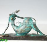 Bronze Nude Lady Figurine
