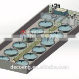 DECO Recirculating aquaculture system for 1000m3