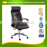 Modern Ergonomic Design Comfortable Black Luxury Pu / Genuine Leather Office Chair (BY-1062)
